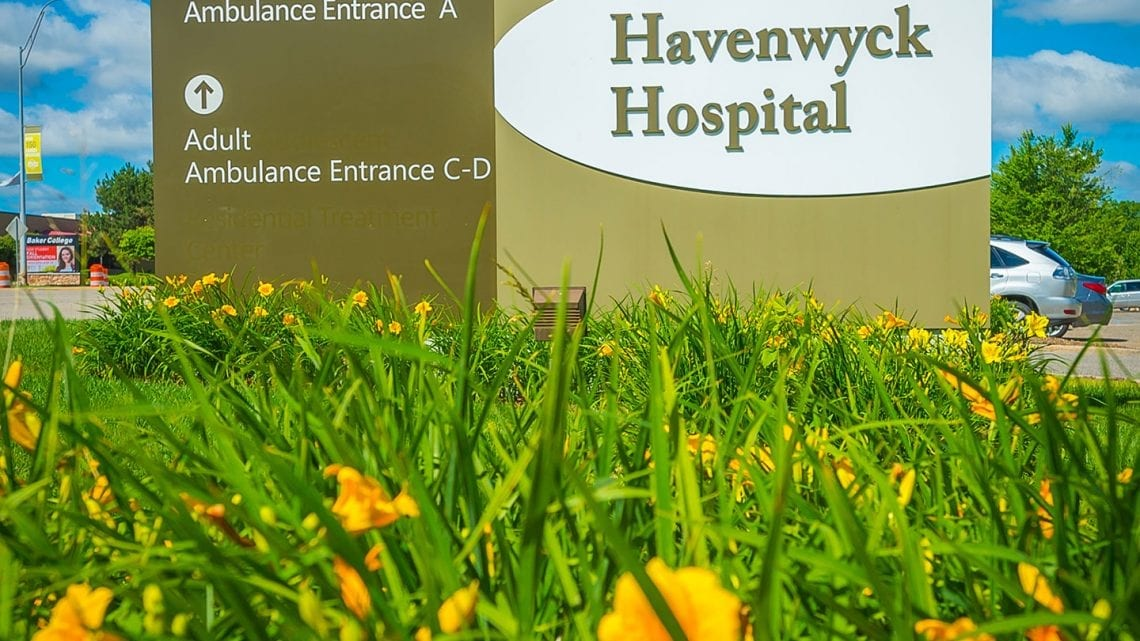 Outdoor Sign for Havenwyck Hospital | HavenwyckHospital.com